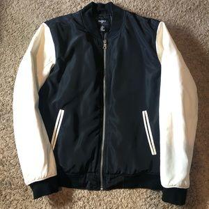 Forever 21 Varsity Letterman Puffy Jacket